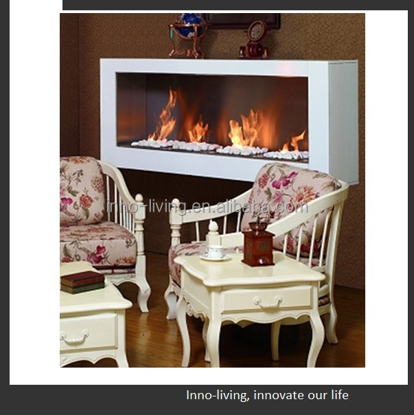 on sale fireplace ethanol fireplace back to back wall mounted hangzhou manufacture