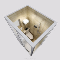 2017 best selling portable bathroom units, portable toilet and shower room, shower room parts