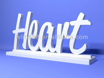 Wooden Letters Home Decor Sign Free Standing Word Decoration On Base Words