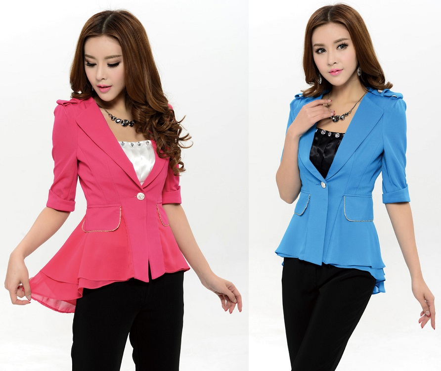 9a93582fad Get Quotations · Newest Elegant Candy Color Spring Summer Women Formal Suits  Blazer   Pants For Business Women Professional