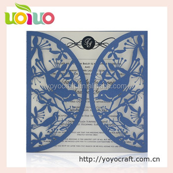 2017 Offset Printing Luxurious chinese wedding invitation card with customized design