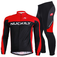 Nuckily custom design sublimation printing fleece long sleeve winter fleece long cycling pants