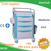 ABS Material medicine cart / Stainless steel medical instrument trolley / Cheap treatment trolley for hospital use