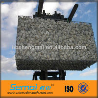 Factory low price height qualtiy galvanized rock filled gabion baskets