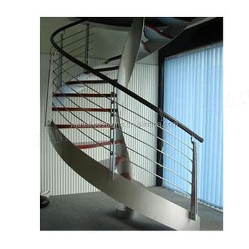 De Madera De Acero Inoxidable Espiral Escaleras En Espiral Escalera - Escaleras-en-espiral