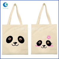 Customized logo canvas fabric diaper tote bag for promotion
