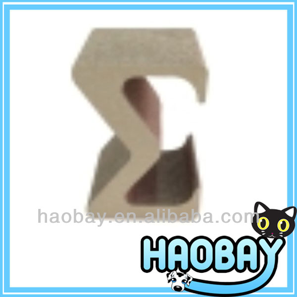 "Beautiful ""M"" Shaped Wholesale Corrugated Cardboard Cat Scatcher Toys"
