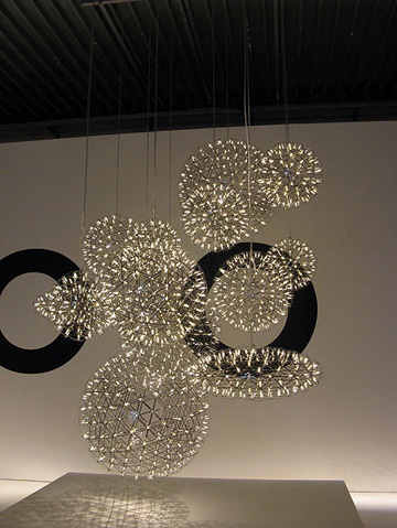 Modern Style Stairs Pendant Light High Ceiling