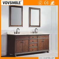 2017 vovsimble solid wood classic style bathroom vanity units canada for apartment project