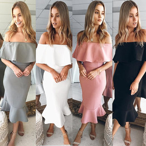 Hot Deals Women Sexy Mini Body Bag Hips Ruffle Irregular Dress