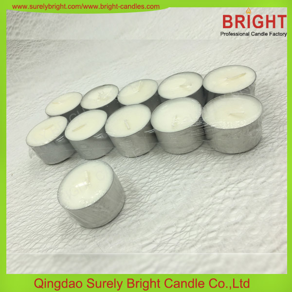 2016 Best Selling Scented Soy Wax Candle In Glass Holder / Soy Scented Tea Light Candle