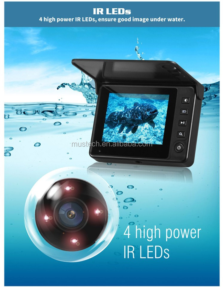 Professional Depth Fish Finder Can Fixed To Fishing Pole Rods With Underwater Video Camera