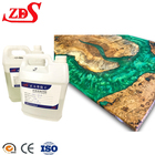 Two component ab glue epoxy resin for filler wood/crystal clear epoxy resin tabletop/non toxic