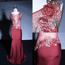 Latest Design Red Off-shoulder Mermaid Wedding Sexy Evening Dress