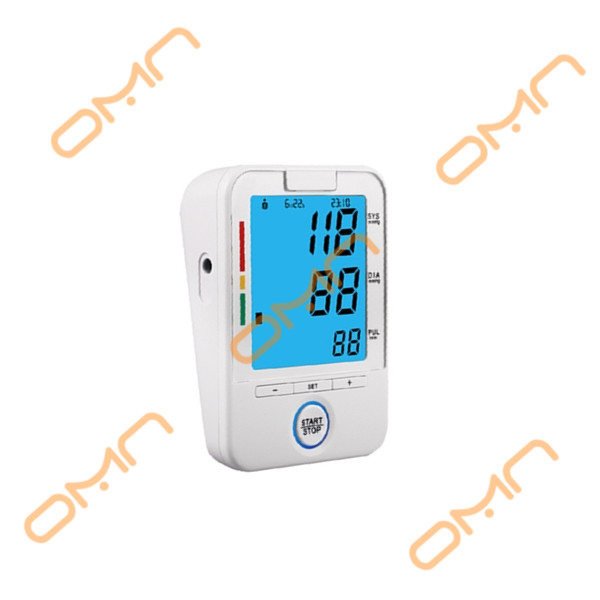 Medical device electronic blood pressure monitor with one key operation function