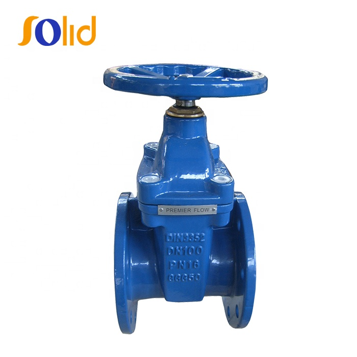 Ductile Iron Resilient Seated gate valve DIN3352 F4 DN100