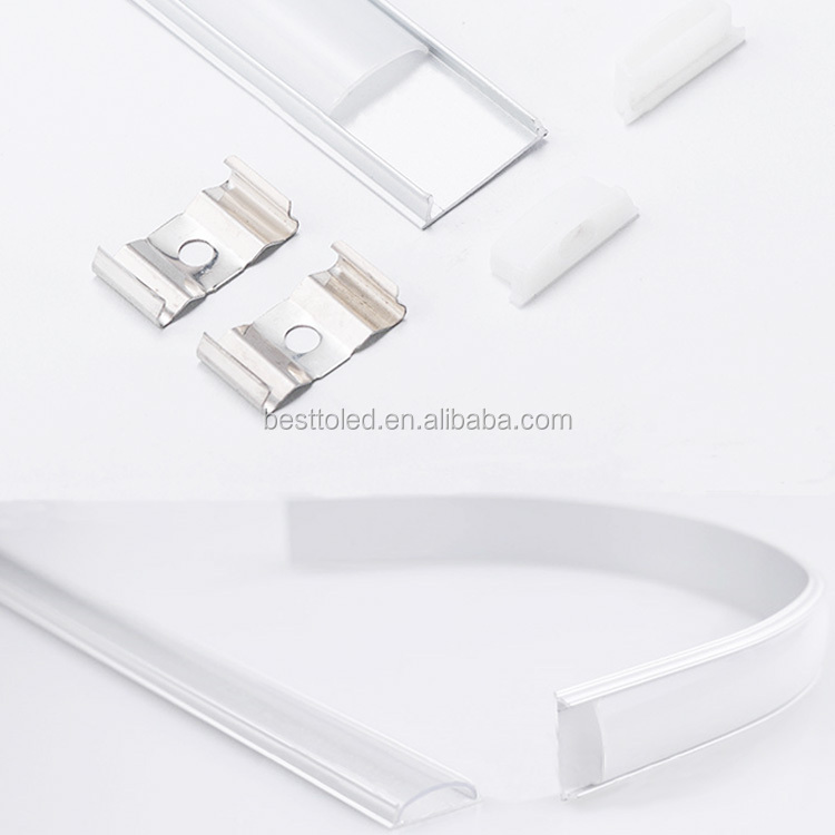 Best Seller Surface mounted bendable aluminum profile for led strips