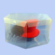 custom Round shaped clear plastic hat boxes