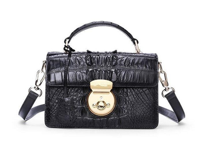 High-end exotic leather lady shoulder bag luxury crocodile handbag