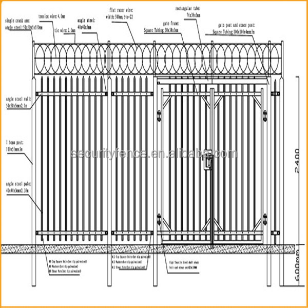 how to build a palisade fence