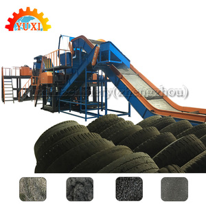 Factory Manufacture Used Rubber Tires Recycling Machines Waste Tire Recycling Plant In Turkey