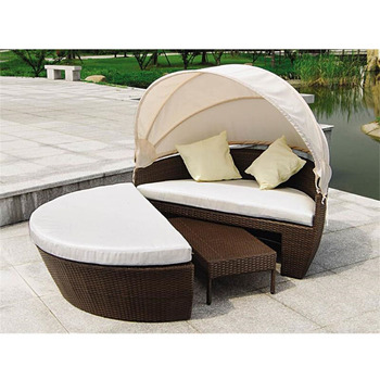 Weather Proof Outdoor Rattan Patio Furniture Round Outdoor Lounge