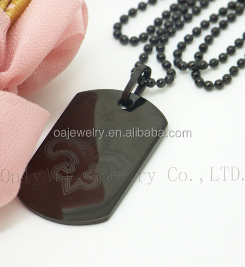 wholesale silver or stainless steel custom logo dogtag