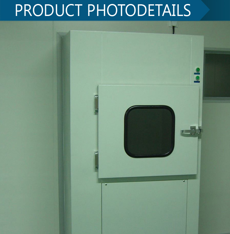Factory Price China Manufacturer medical lab hepa filtered uv lamp transfer window air shower pass box