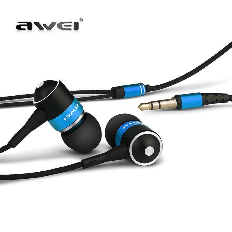 Awei ES Q3 3,5 мм шумоизоляция наушников вкладыши стиль наушников для MP3 / MP4 игроки