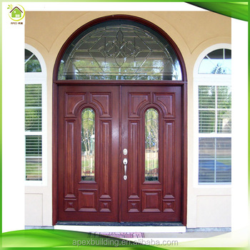2017 Arched Red Wooden Entrance Front Entry Doors For Sale Part 47