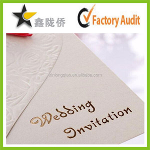hight quality paper card printing / nobility paper card for wedding / wedding invitation card designs