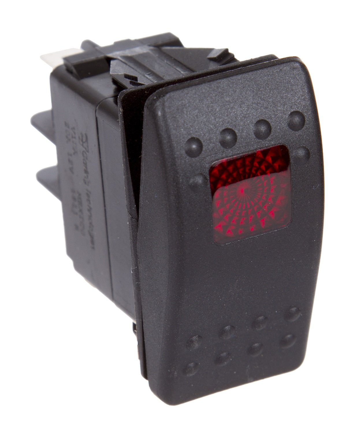 Daystar, Universal Rocker Switch with Red Light, 20 Amp, Single Pole, KU80014, Made in America, Amber