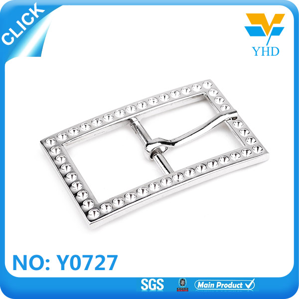 China supplier rhinestone clip buckle cinch strap parts of a belt buckle