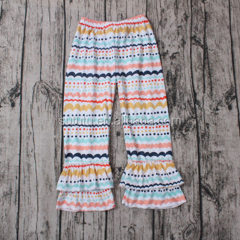 Fashion Baby Girls Boutique many colours stripes ruffles boutique capri pants