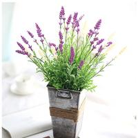 MW 20201 Platform Leads Supplier Luxury Yellow PU Artificial Wedding Lavender Flower Artificial Silk Flower