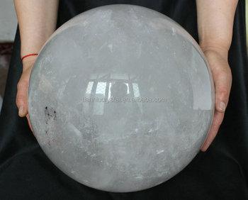 """31.9kgs 70.3lb Large 11.2"""" Natural Rock White Clear Quartz ...Quartz Crystal Spheres For Sale"""