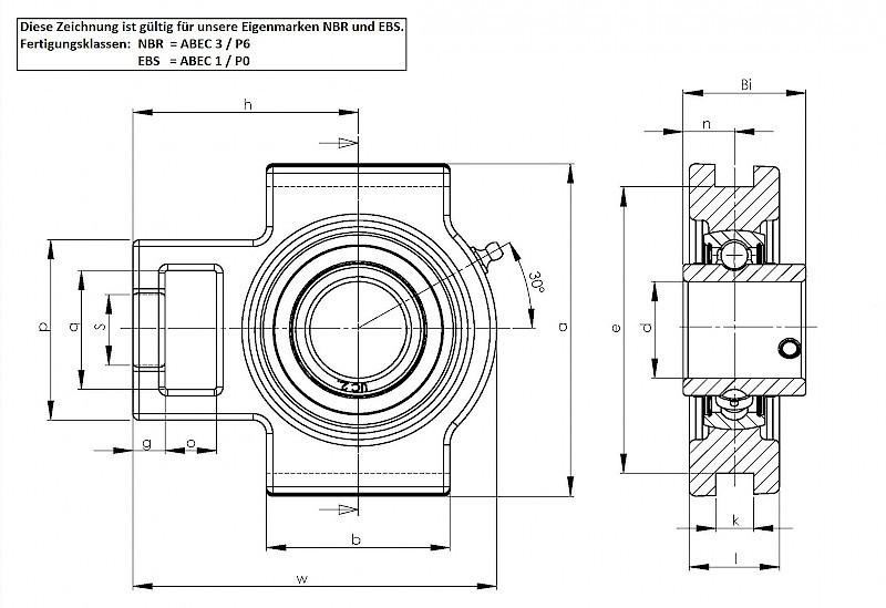 Vertical Motor Bearing Small Pillow Block Bearing Uct205