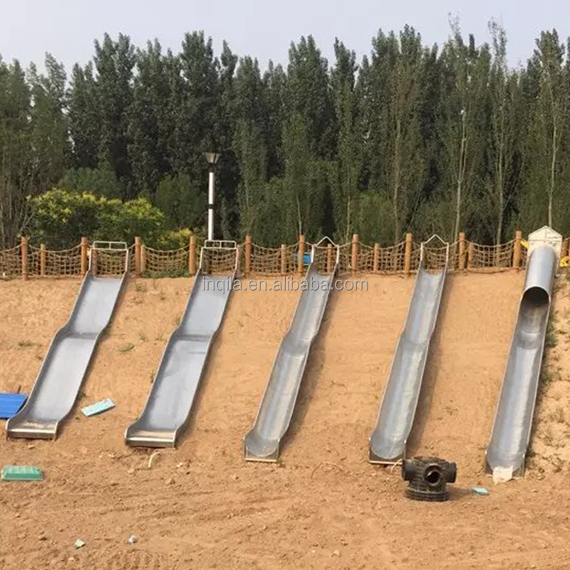 Outdoor playground stainless steel slide