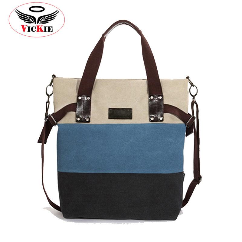 e5953f132434 Canvas Striped Woman Shoulder Bag Fashion Panelled Women Messenger Bag  Crossbody Wholesale Korean Handbag Brand Totes Bolsas T41