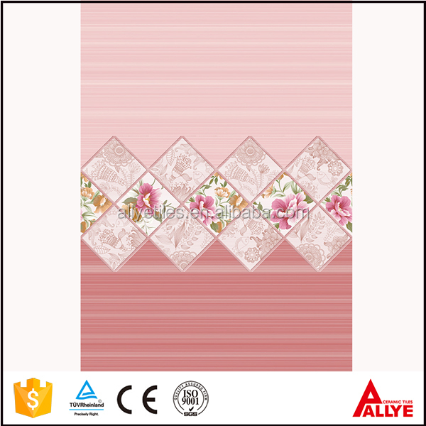 2017 new design pink ceramic bathroom wall tile with cheap price made in China
