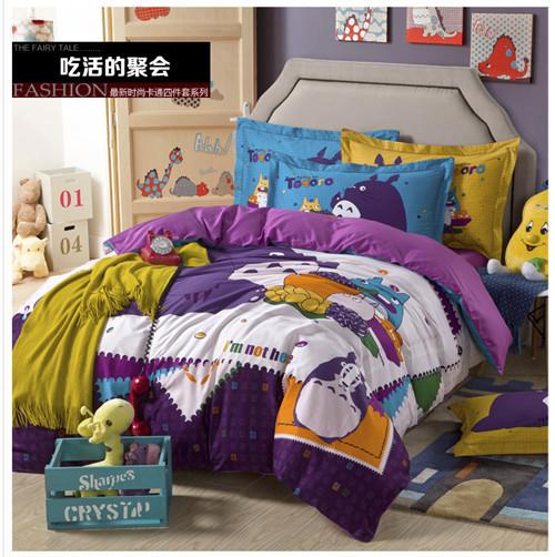 Totoro Bed Set: New 2014 Cartoon Yellow Duck Totoro Bed Set Duvet Cover
