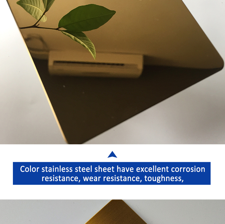ZB072402 201 304 316 Embossed Mirror Surface Color Stainless Steel Sheet For Elevator