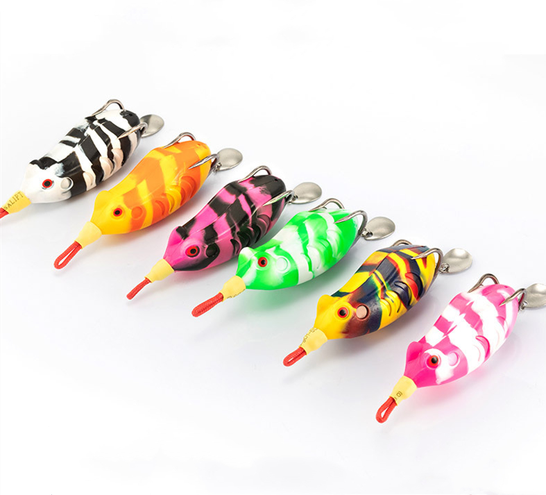 Gorgons 55mm 13g snakehead fishing soft frog lure fish lures fishing products, Vavious colors