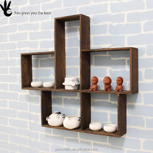 Easy handle room customized wooden rack home accessories decoration