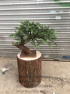 High quality large artificial plants and trees fake artificial pine tree wood trunk for sale