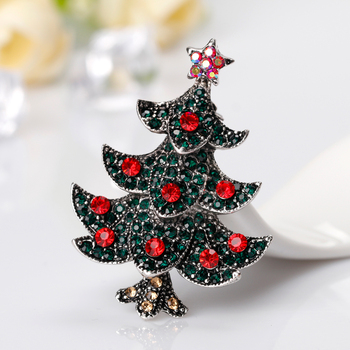 f07da7bfc8f Tress Metal Badges Christmas tree brooches Clothes Pin Cute Rhinestone pins  and brooches Badge Plant Vintage