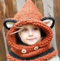High quality 2015 new fashion cute baby girl knitted winter hat cute little ears Christmas