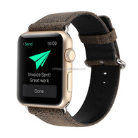 Leopard crack leather band for Apple Watch with Adapter