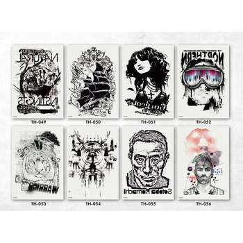 Portable Tattoo Arm Sleeve Stickers For Body New Model Sticker