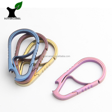 Climbing Titanium Carabiner with Bottle Opener Titanium EDC Tool Colorful